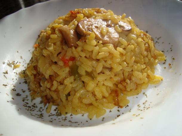 arroz-con-pollo-y-champinones