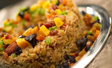 arroz con frutas secas